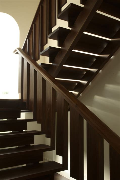 black staircase black walnut staircase in ireland city joinery
