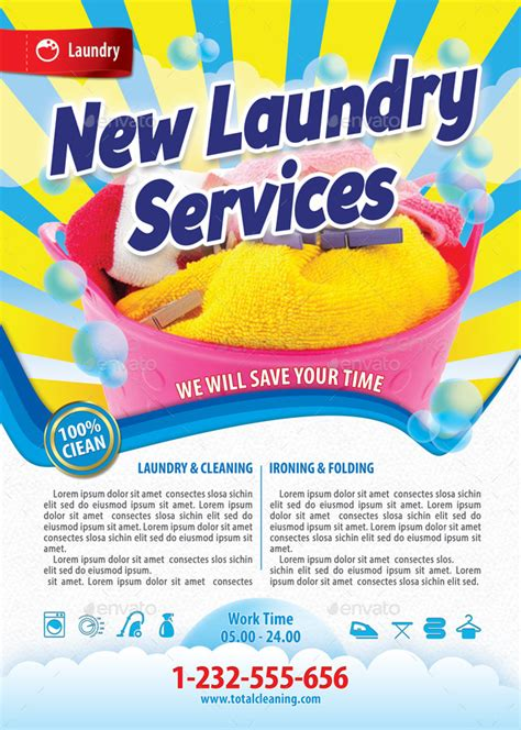 new laundry services flyer template 116 by 21min