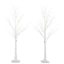 noma tree canadian tire noma birch tree with led lights 4 ft 2 pk