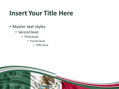mexico flag powerpoint template presentationgo com