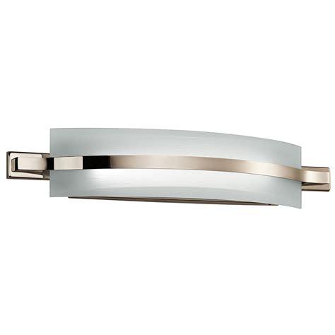 led bathroom lights kichler 42091pnled freeport modern polished nickel led