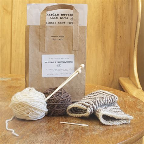 knitted kits beginner knitting kit warmers and coffee