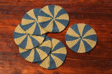 knitted coaster pattern free shaker dishcloths coasters pattern knitting patterns