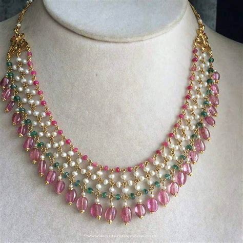 how to make gold beaded jewelry fancy gold beaded necklace from anagha jewellery south
