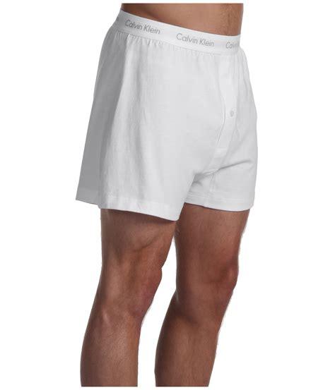 calvin klein knit boxers calvin klein classics knit boxer 2 pack u3027