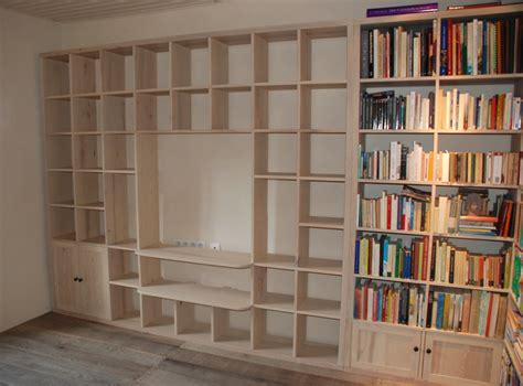 biblioth que contemporaine tv hifi la suite atelier construire une bibliotheque murale