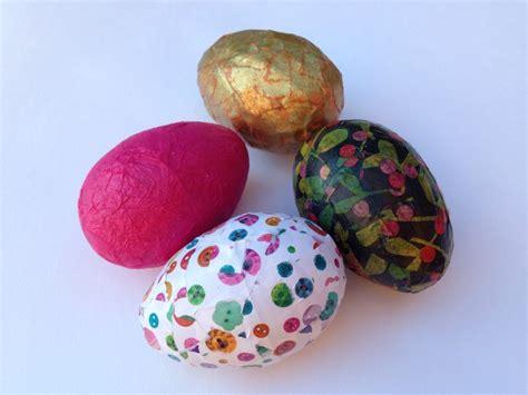 Decoupage Egg Patterned Tissue Paper Easter Egg