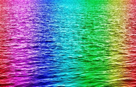 colored water rainbow colored water waves stock photo colourbox