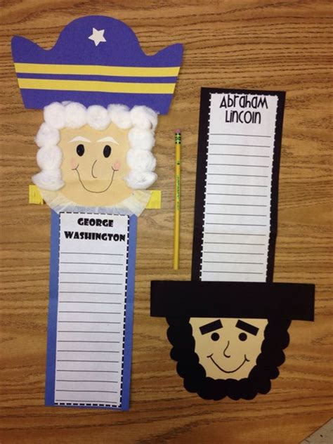 presidents day crafts for 2 writing activities crafts for presidents day with