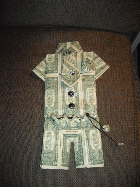 money origami shirt money suit craft ideas