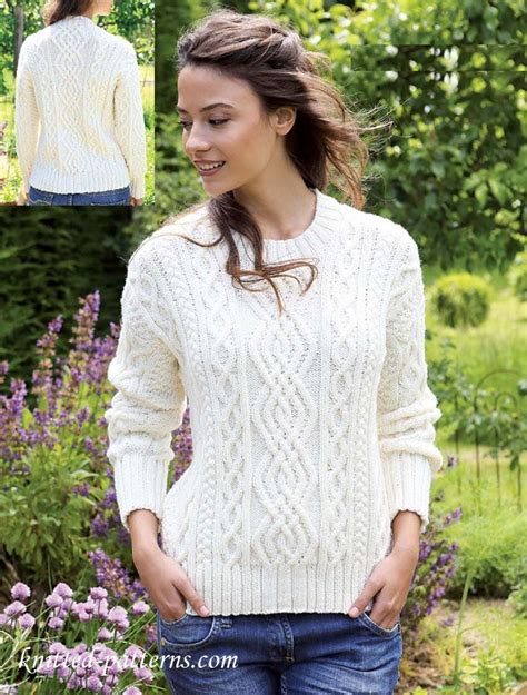 free womens knitting patterns jumpers 25 best ideas about aran knitting patterns on