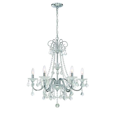 chrome chandelier home decorators collection 6 light chrome