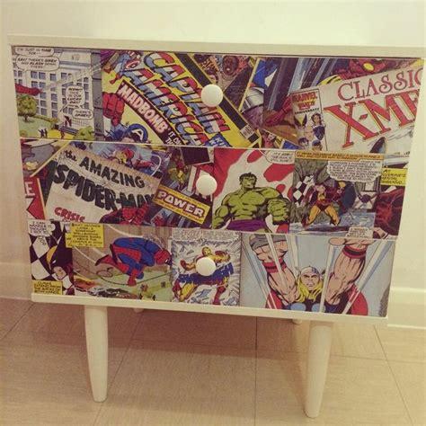 decoupage comic retro marvel comic decoupage chest of drawers cabinet