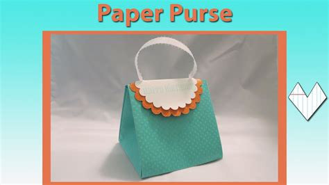 how to make a purse with paper purse card tutorial
