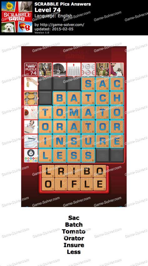Scrabble Pics Level 74 Solver