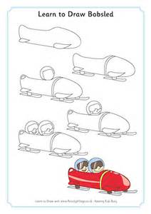 learning to draw learn to draw bobsled repinned by totetude how to
