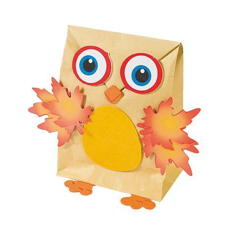paper bag owl craft owl nature bag craft kit trading