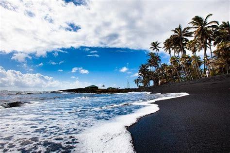 Punaluu Beach a incr 237 vel praia do hava 237 que tem areia preta
