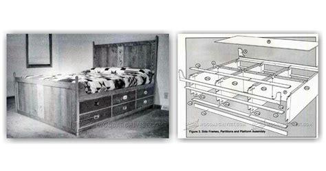 captains bed plans captains bed plans woodarchivist