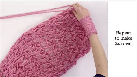 knitting for beginners arm knitting for beginners