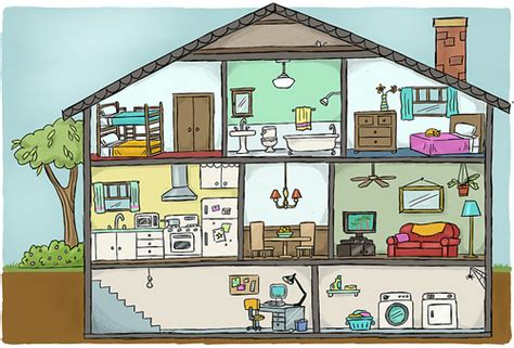 house diagrams house cutaway diagram for textbook look at a house