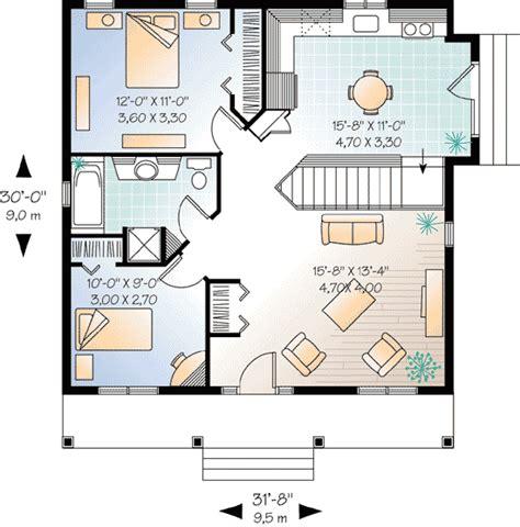 2 bedroom cottage house plans 2 bedroom cottage house plan 21255dr architectural designs house plans
