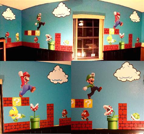 mario wall sticker mario personalized name decal mario wall decal