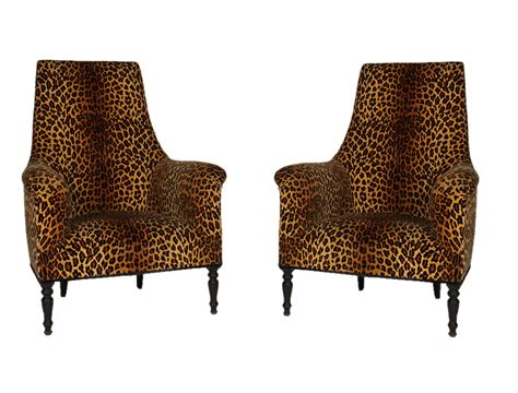 Home Decor Auction leopard print chairs roselawnlutheran