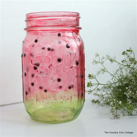 jar craft painted watermelon jar craft plus more live crafts