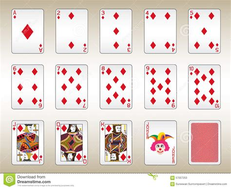 card set diamonds cards set stock vector image of