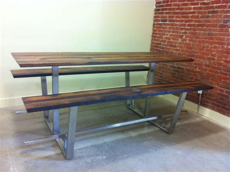 custom picnic tables crafted custom quot picnic quot table by twelve26studio