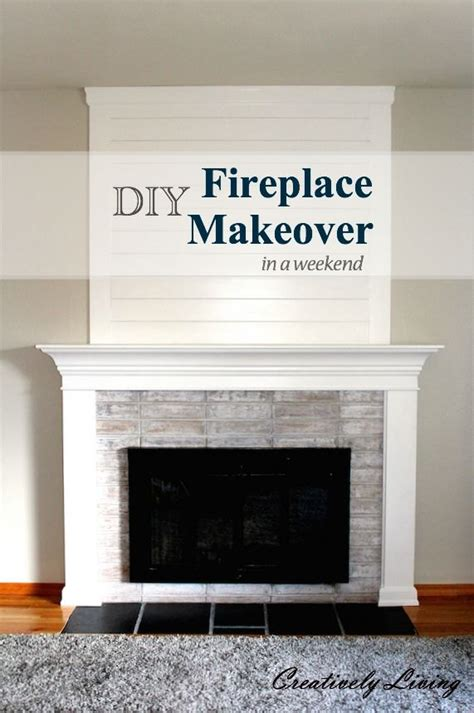 easy fireplace makeover diy fireplace makeover in one weekend 100