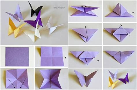 paper butterflies origami how to diy origami butterfly nature and house