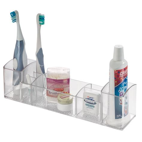 organize bathroom vanity interdesign bathroom tray organizer vanity toothbrush