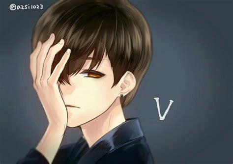 anime v taehyung the living anime bts v fanfiction v the