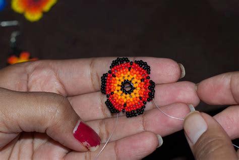 Huichol Flower Tutorial Peiote Jewellery