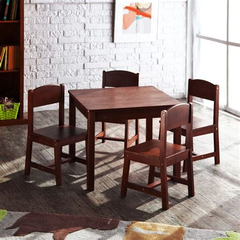 kid craft table and chairs new kidkraft sturdy farmhouse wooden table and chair set