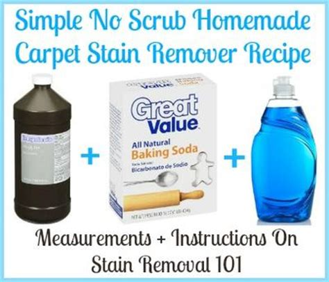 Spot Clean Carpet Baking Soda homemade carpet stain remover recipe simple amp no scrub