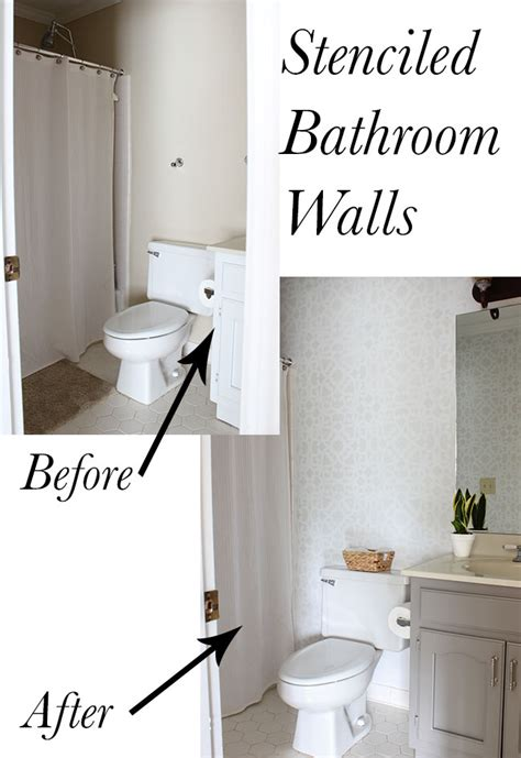 Bathroom Stencil Ideas by Bathroom Makeover Stenciled Walls Plus A Giveaway