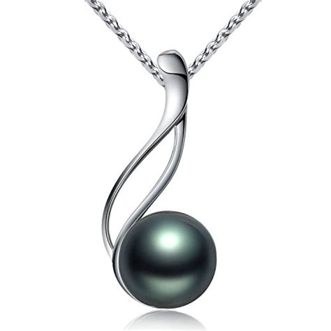 pearl pendants for jewelry tahitian cultured black pearl pendant necklace 9 10mm