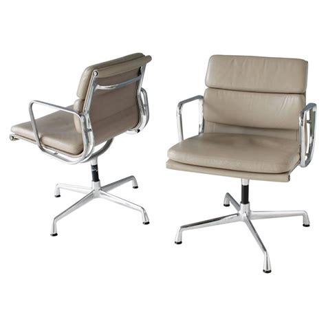 eames swivel chair pair of eames ea 208 swivel soft pad chairs for sale at