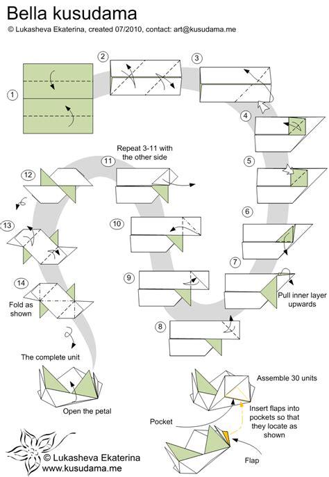 origami modular diagrams kusudama me modular origami unit school