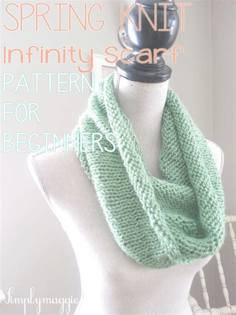 infinity scarf knit pattern for beginners knit infinity scarf simplymaggie