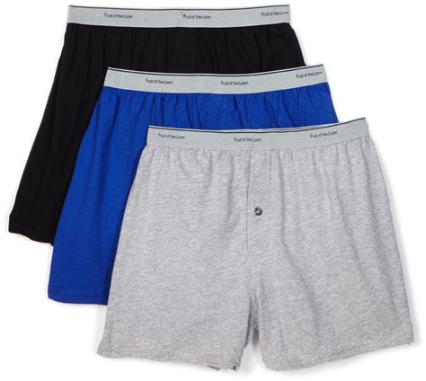 knit boxers fruit of the loom s 3 pack solid knit boxers