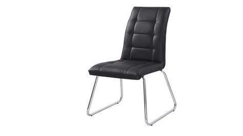 black faux leather dining room chairs black dining chairs in faux leather homegenies