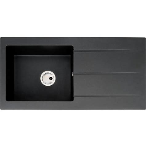 single bowl kitchen sink with drainer abode zero single bowl single drainer inset sink black aw3007