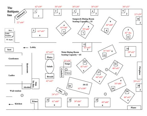 table dimensions baldpate event planning floorplans baldpate