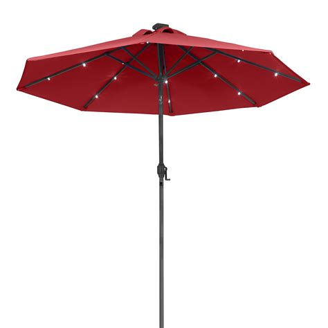 solar powered umbrella lights sunergy 50140838 9ft solar powered metal patio umbrella w