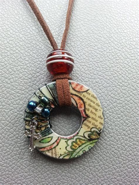 decoupage jewelry ideas best 20 handmade necklaces ideas on fabric