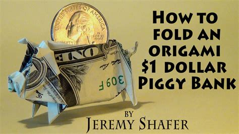 how to make an origami out of money 1 origami piggy bank
